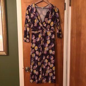 Floral purple Boden dress